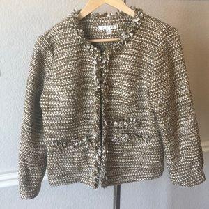 CAbi Phoebe Tweed Jacket size Medium
